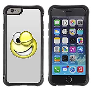 Be-Star Unique Pattern Anti-Skid Hybrid Impact Shockproof Case Cover For Apple iPhone 6 Plus(5.5 inches)( 3D Funny Smiley ) Kimberly Kurzendoerfer
