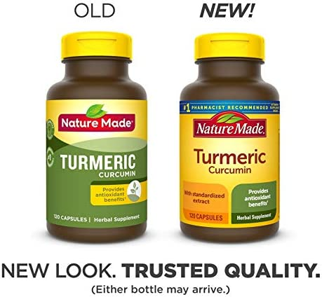 Nature Made Turmeric Curcumin 500 mg Capsules, 120 Count for Antioxidant Support 4