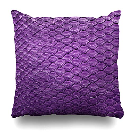 - Kutita Decorative Pillow Covers 20 x 20 inch Throw Pillow Covers, Snake Python Skin Purple Close Up for Background and Wallpaper Pattern Double-Sided Decorative Home Decor Pillowcase