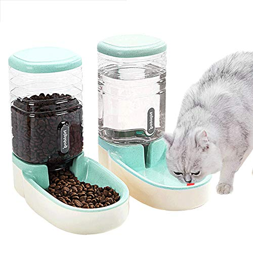 Automatic Pet Feeder Small&Medium Pets Automatic Food Feeder and Waterer Set 3.8L, Travel Supply Feeder and Water…