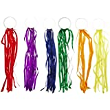 Sportime Rainbow Ribbon Hoops - Large 24 Inch Ribbons - Set of 6 Colors