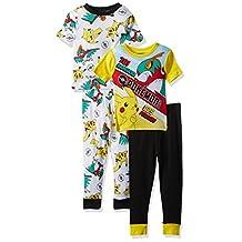 Pokémon boys Pikachu 4-piece Cotton Pajama Set
