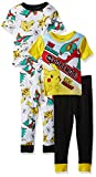 Pokemon Boys Pikachu 4-Piece Cotton Pajama Set