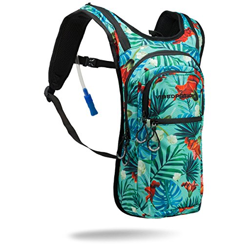 Festival Hydration Pack By Vibedration   2L Water Capacity   Perfect For Raves  Hiking   Camping  Maui Wowi   Aqua
