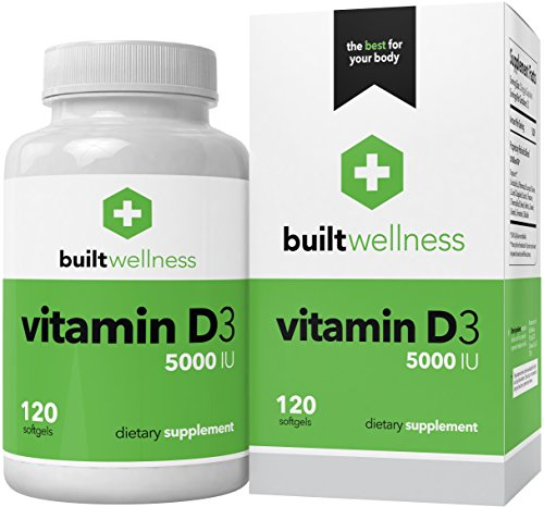 Built Wellness Vitamin D3 Supplement, 5,000 iu, 120 Softgels