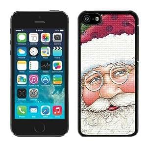 Best Buy Design Iphone 5C TPU Case Santa Claus Black iPhone 5C Case 16