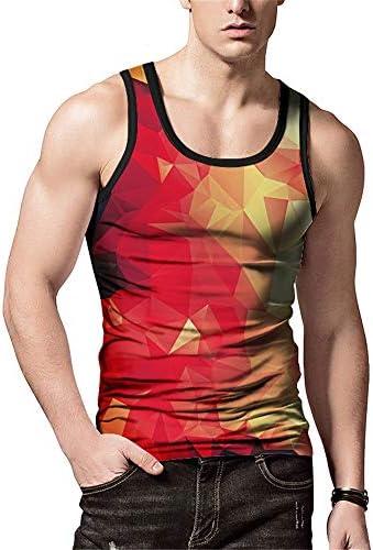 タンクトップ メンズ メンズノースリーブの3D柄トレーナールースユースカジュアルシャツタイトフィット通気性のクルーネックベスト 夏 スポーツ フィットネス (色 : C1, Size : XXL)