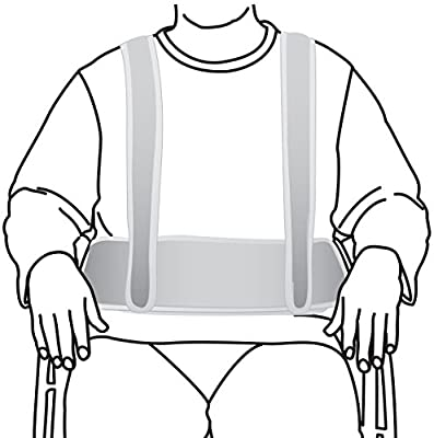 Secure WCH-1 Torso Support Self-Release Wheelchair Positioning Harness - Prevent Patient Forward Sliding