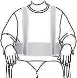 Secure WCH-1 Torso Support Self Release Wheelchair Positioning Belt and Shoulder Harness - Prevent Patient Forward Sliding
