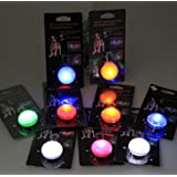 Dog Collar-led Safety Light - Highvisibility - Collar Light for Outdoor Safety- 2p Flashing Settings - Pack of 5, Assorted Colors