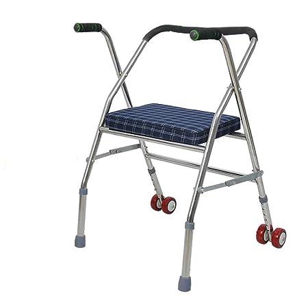 SCZLSYL Caminante de silla de ruedas de acero inoxidable ...