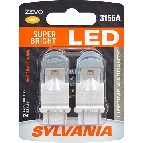 (SYLVANIA - 3156 ZEVO LED Amber Bulb - Bright LED Bulb, Ideal for Park and Turn Lights (Contains 2 Bulbs))