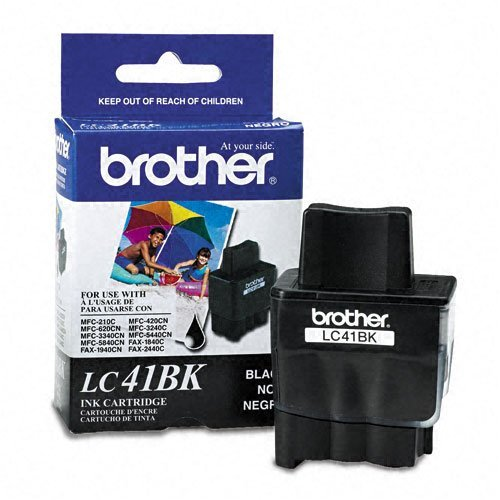 Brother : LC41BK Ink, 500 Page-Yield, Black -:- Sold as 2 Packs of - 1 - / - Total of 2 Each