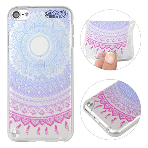 iPod Touch 5th 6th Generation Case, iPod Touch 5/6 Back Case Cover, Rosa Schleife Flexible Clear Soft Gel TPU Silicone Bumper Mobile Phone Case Protective Shell Cases Covers for Apple iPod Touch (Pyjama Case)