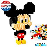 Mickey Mouse Toys Kids Building Blocks Children's 3D Puzzle Toys Creative Toys for Girls & Boys from Age 6 to Adult DIY Toys Mini Building Blocks Set Education Toys
