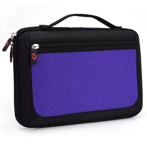 - Black - Purple Universal Semi Hard Carrying Case with Handle for Samsung Galaxy Tab S 10.5-inch Tablet
