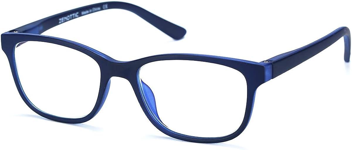 ZENOTTIC Gafas Infantiles de Bloqueo de Luz Azul para Ordenadores Gafas de Juego de Lentes Antirreflejos y Ligeros Protección de Ojos para Niños y Niñas
