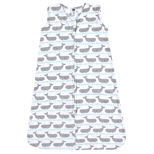 Hudson Baby Wearable Safe Soft Jersey Cotton Sleeping Bag, Nautical Whales, 0-6 Months from Hudson Baby