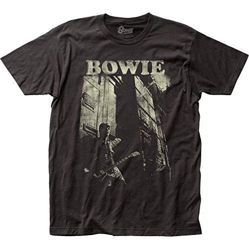 David Bowie Men's Guitar Slim Fit T-shirt XX-Large Coal
