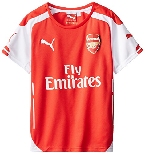 Arsenal Youth Home Jersey (Puma Kids AFC Home Replica Jersey, High Risk Red, Youth Medium)
