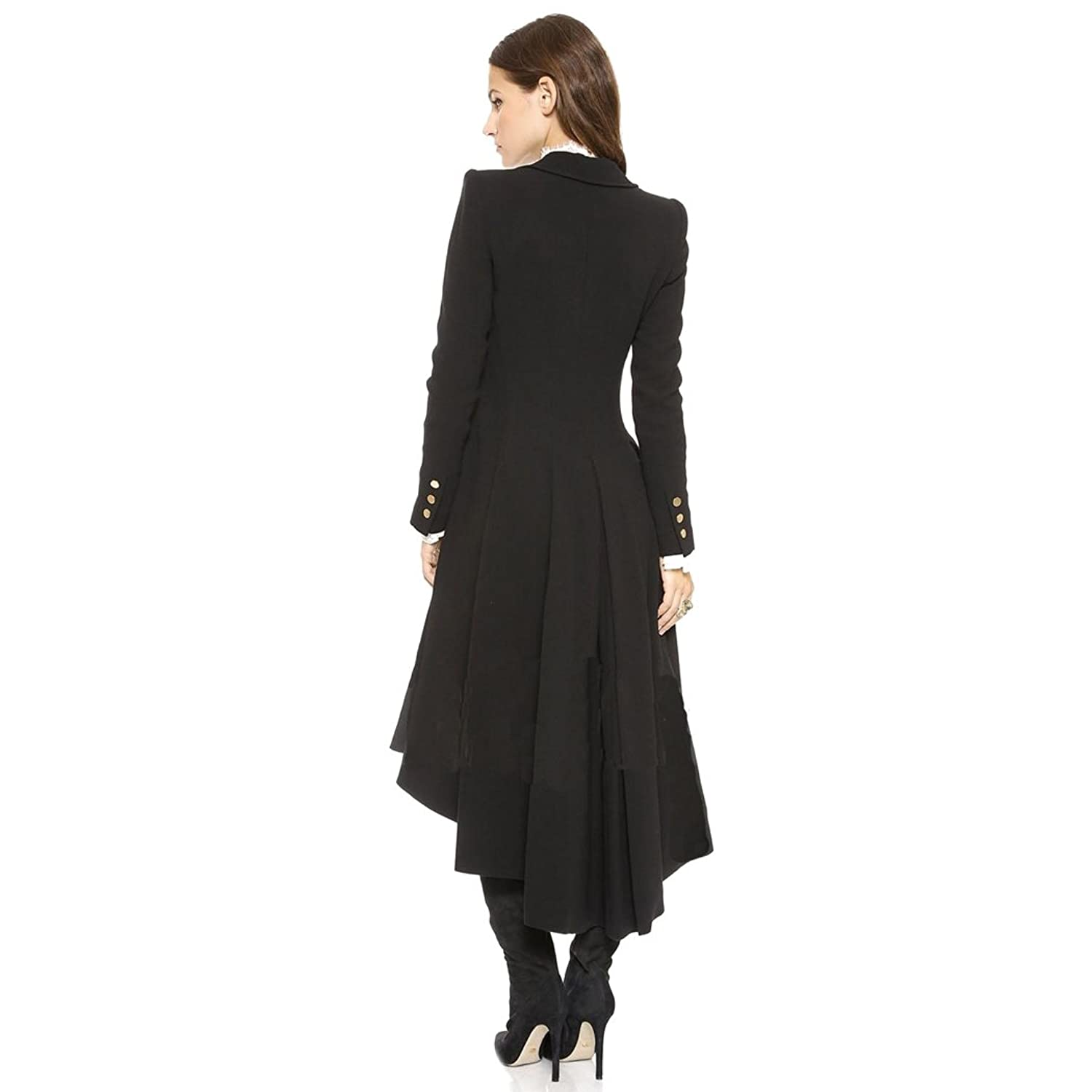 Vintage Coats & Jackets | Retro Coats and Jackets City In Left Womens Slim Long Dovetail Turn-Down Collar Trench Coat Gothic Clothing $57.50 AT vintagedancer.com