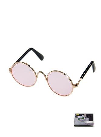 MMY - Gafas de sol redondas para gatos o perros pequeños, marco de ...