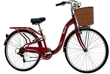 Monty City 5 - Bicicleta de paseo unisex de 6 velocidades, cuadro de acero talla