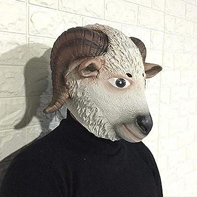 Halloween Head Mask Cabeza de Oveja Linda de la Máscara de ...