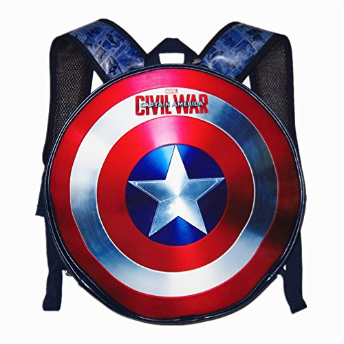 Yanglovele Avengers Captain America Shield Student Backpack Book...