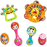Baby Bucket Musical Instruments Toy Set Timbrel Maracas Sand Eggs Shaker Hand Bells Bell Drum Baby Rattle