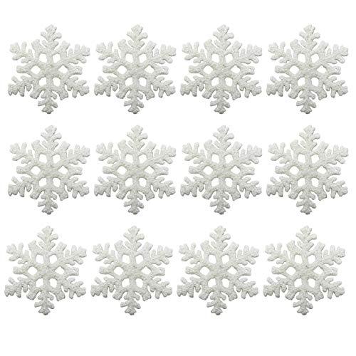 allgala 12-PK Christmas Tree Ornaments (White-Snowflake)