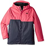 Under Armour Outerwear Youth Girls Pp Rideable Jacket, Penta Pink/Black, Medium
