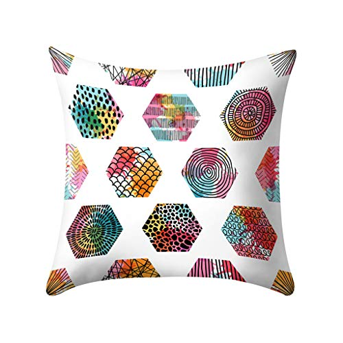 - Fulijie Throw Pillow Covers, Letters Geometric Print Cushion Covers Pillowcase Home Decor for Sofa Couch Bed 18X18 Inch