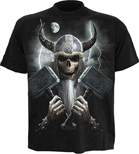 Spiral Celtic Warrior Short Sleeve T-Shirt - Mens - L - Black