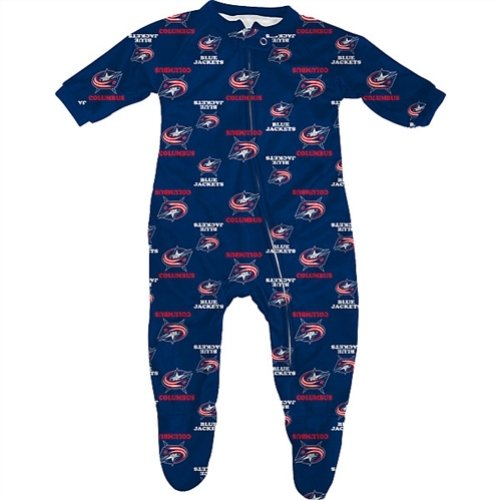 - Columbus Blue Jacket Coverall Sleeper Infant Baby Logos (12 Months)