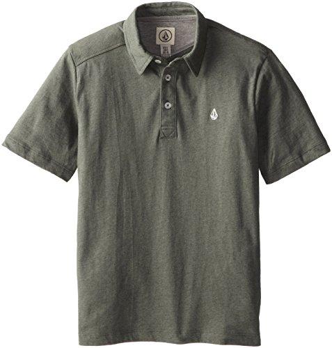 Volcom Big Boys' Wowzer Polo Short Sleeve, Slate Grey, Large