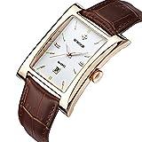 WWOOR Mens Watches vintage Auto Date Waterproof Quartz Wristwatch Business WR0004