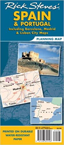 Rick Steves' Spain and Portugal Map: Including Barcelona, Madrid and Lisbon (Rick Steves' Planning Map)