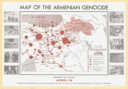 Home Comforts LAMINATED POSTER Map of Map Showing The Armenian Genocide (1915) POSTER PRINT 24 X 36 - 1915 Poster