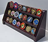 3 Tiers Challenge Coin Encapsulated Coin Display Stand Solid Wood