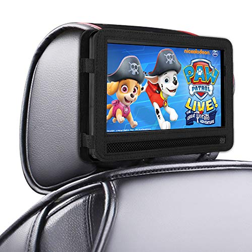 DR. J Car Headrest Mount Holder Strap for Swivel and Flip Style Portable DVD Player – 9.5 Inch to 10.5 Inch Screen