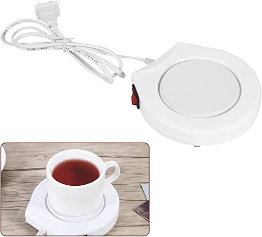 Coffee Mug Warmer 110V White Electric Powered Cup Warmer Heater Pad Coffee Tea Milk Mug US Plug