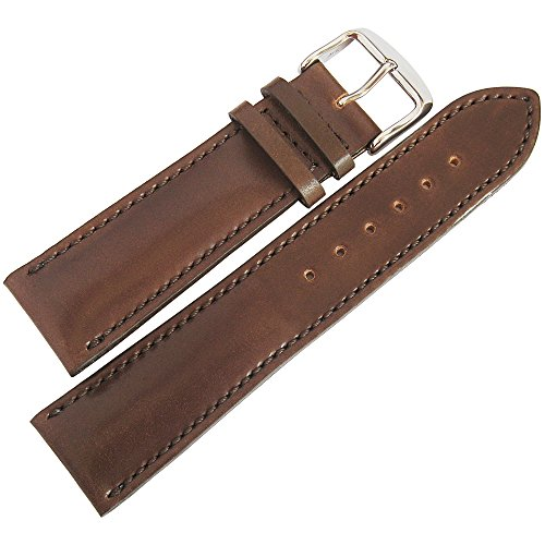 - Fluco Horween Shell Cordovan 22mm Brown Leather Watch Strap
