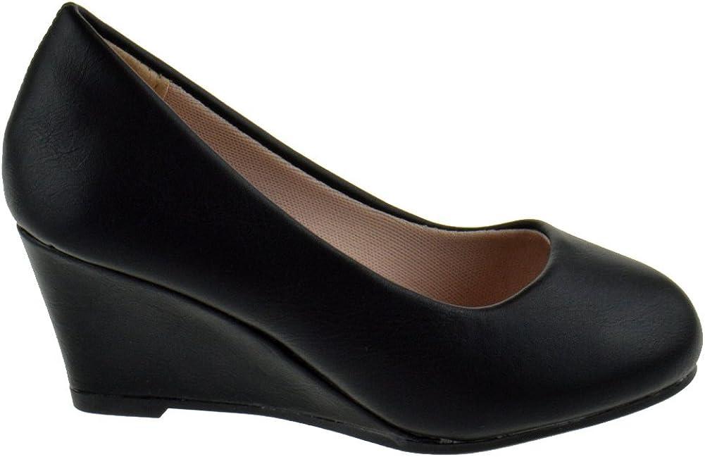 Link Doris 23K Little Girls Pull On Round Toe Wedge Sandals