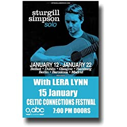 Sturgill Simpson Poster - 11 x 17 Concert Promo for A Sailor's Guide to Earth Tour 2016 G