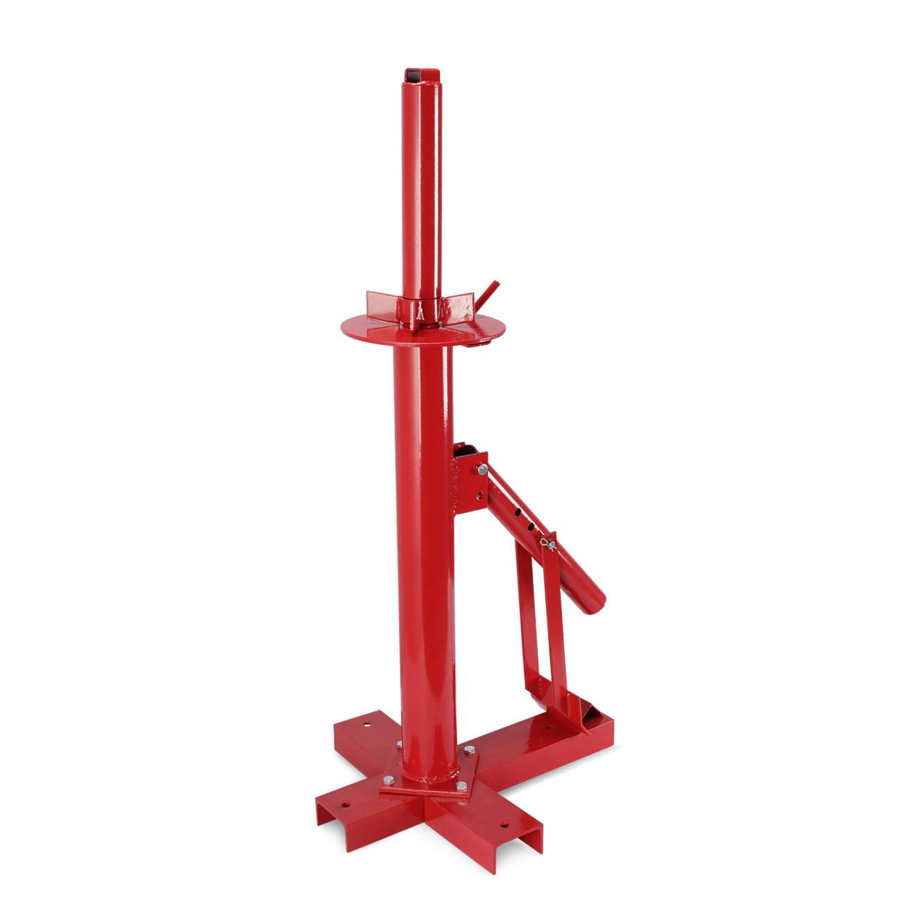 ARKSEN Portable Manual Iron Steel Motorcycle Auto Car 8'' to 16'' Tire Changer w/Easy Mounting Demounting Hand Tool, Red