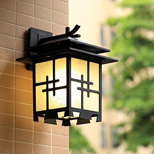 Edge To Wall lamp Chinese Wall Lamp Japanese Simple Outdoor Outdoor Waterproof Villa Door Hall Garden Garden Imitation Retro Lights by Edge To