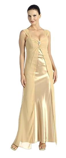 großer Diskontverkauf detaillierte Bilder schöne Schuhe Nachtigall+Lerche Abendkleid lang elegant Empire-Stil ...