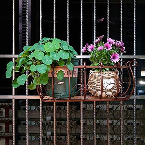 - JFFFFWI Flower Rack European Balcony railings Flower Rack, Iron Fence Hanging Carnival, Flower Pot, Living Room Indoor Wall-Mounted Flower Shelf Home Decoration
