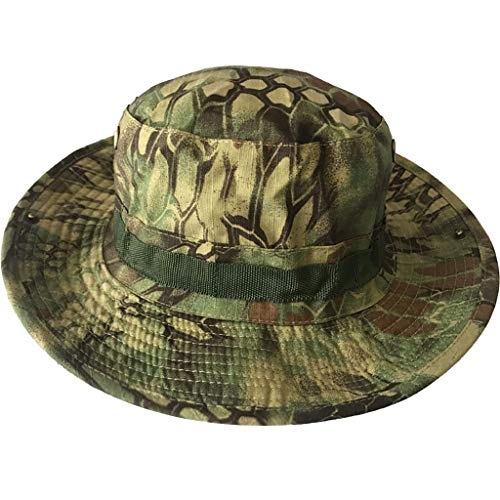 MTENG New Sun Hat for Men/Women, Camouflage Boonie Hat Fashion Fisherman Hat Wild Outdoor Sun Flat Hat for Safari Fishing Hiking Beach Golf